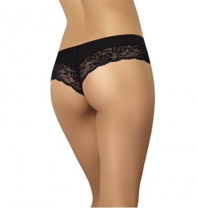 Brazyliany damskie bawełniane majtki Viki czarne
