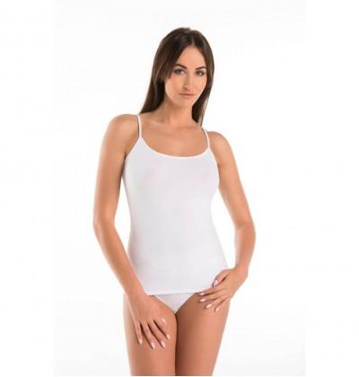 Koszulka na ramiączkach bawełniana Top Melisa biała