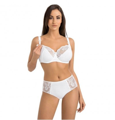 Maternity cotton bra Anastasia Mama white