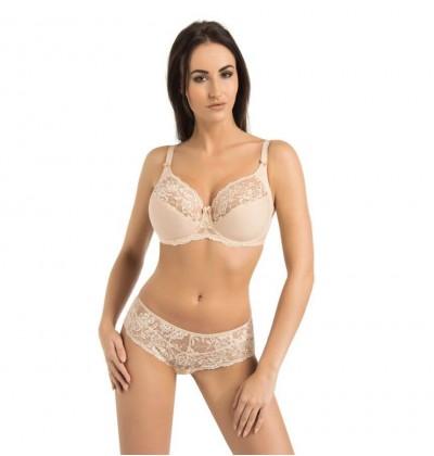 Women's underwire bra Victoria beige front Teyli