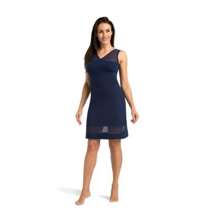 Women's night dress Betti blue front Teyli