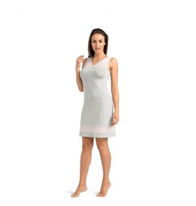 Women's night dress Betti grey front Teyli