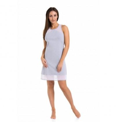 Women's Nightdress Pajamas Veronika grey front Teyli