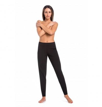 Piżama spodnie damskie Floria czarna przód Teyli
