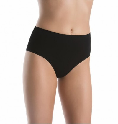 Women's medium waisted bamboo panties black