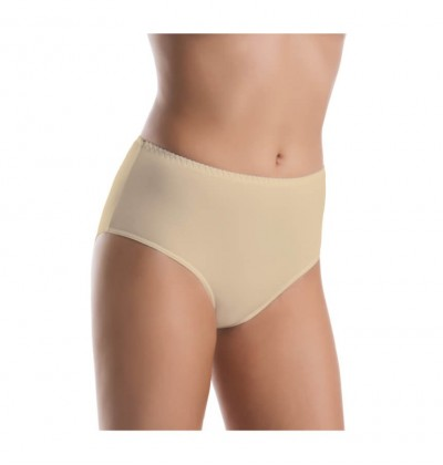 Women's medium waisted bamboo panties beige front Teyli