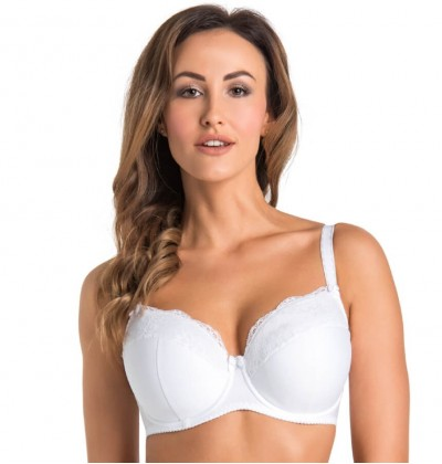 Marte white padded bra with underwires front
