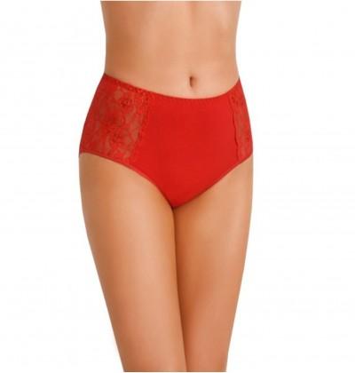 High cotton panties Loren red front Teyli