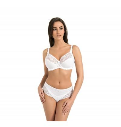 Women's underwire bra Victoria white front Teyli