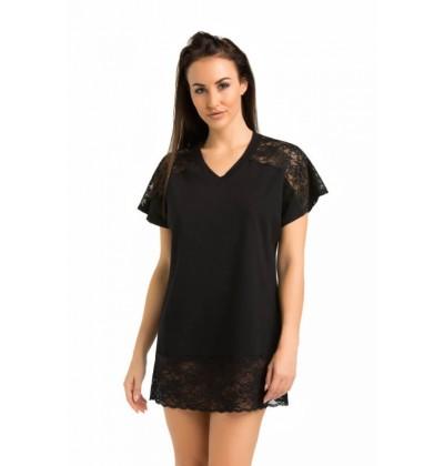 Women's nightdress Lotti black front Teyli