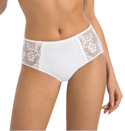 Women's cotton briefs Anastasia white front Teyli