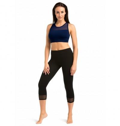 Women's leggings 3/4 Glamo black back Teyli