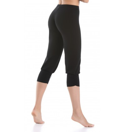 Women's leggings Comforto 3/4 black back Teyli