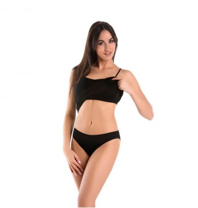 Women shirt bra big black front Teyli